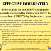 ESSFTA Membership Required for High Point Awards